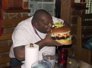 Big guy and big burger